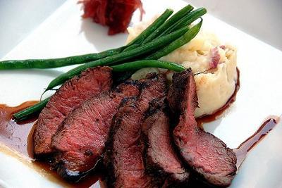 Lemon-Rosemary Grilled Flat Iron Steak